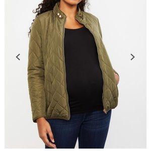 Motherhood Maternity Green Quilted Puffer Jacket